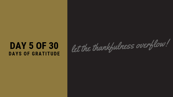 Day 5 of The Gratitude Challenge